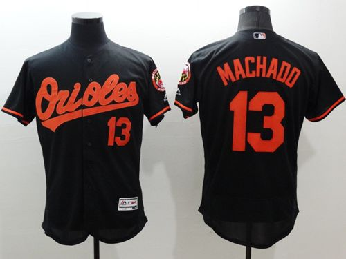 Men's BaltimoreOrioles #13 Manny Machado Black Flexbase Authentic Collection Stitched MLB Jersey