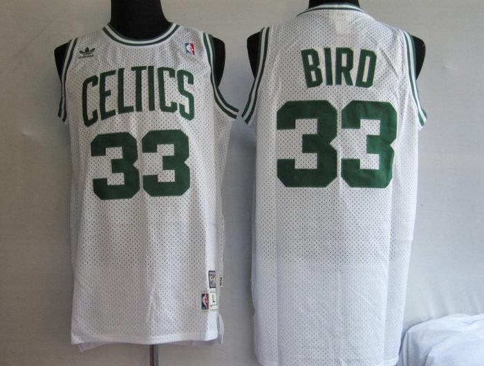 NBA Jersey Boston Celtlcs 33# BIRD white Swingman Throwback Jersey