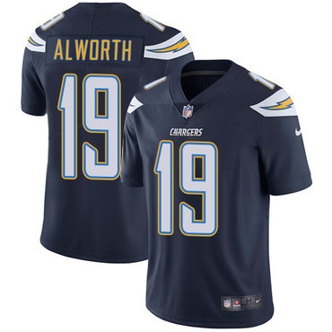 ID92661 Nike San Diego Chargers #19 Lance Alworth Navy Blue Team Color Men\'s Stitched NFL Vapor Untouchable Limited Jersey