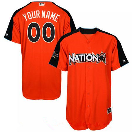 Men's National League Majestic Orange Blank 2017 MLB All-Star Game Authentic On-Field Home Run Derby Team Jersey