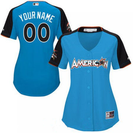 Women's American League Majestic Blue Blank 2017 MLB All-Star Game Home Run Derby Team Jersey