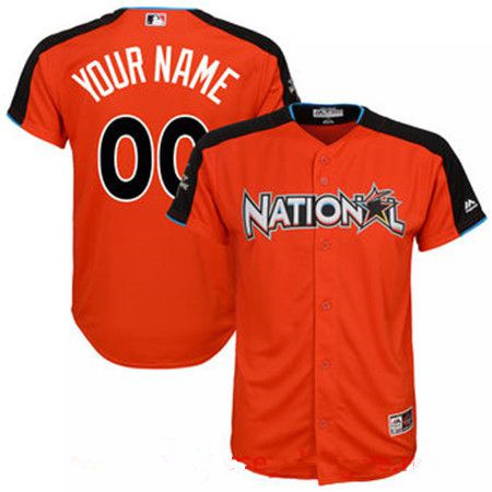 Youth National League Majestic Orange Blank 2017 MLB All-Star Game Home Run Derby Team Jersey