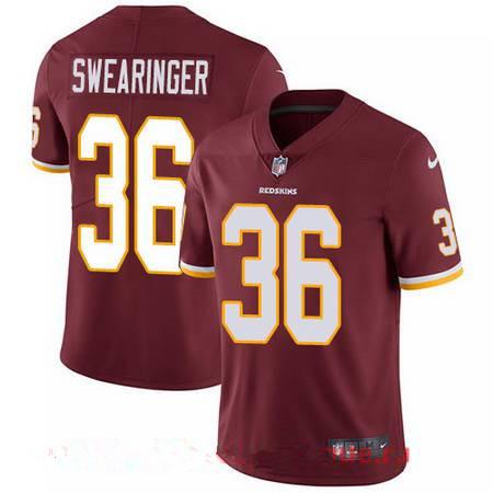 Youth Washington Redskins #36 D.J. Swearinger Burgundy Red Team Color Stitched NFL Nike Game Jersey