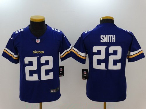 Youth Minnesota Vikings #22 Harrison Smith Purple 2017 Vapor Untouchable Stitched NFL Nike Limited Jersey