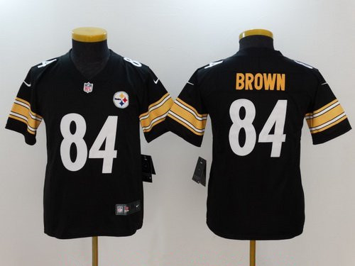 Youth Pittsburgh Steelers #84 Antonio Brown Black 2017 Vapor Untouchable Stitched NFL Nike Limited Jersey