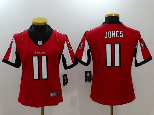 Women's Atlanta Falcons #11 Julio Jones Red 2017 Vapor Untouchable Stitched NFL Nike Limited Jersey