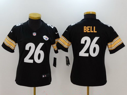 Women's Pittsburgh Steelers #26 Le'Veon Bell Black 2017 Vapor Untouchable Stitched NFL Nike Limited Jersey