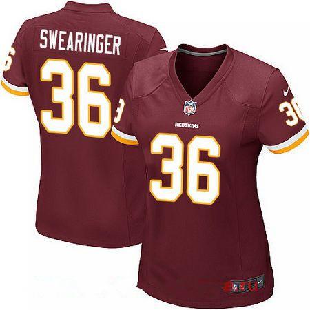 ... Womens Washington Redskins 36 D.J. Swearinger Burgundy Red Team Color  Stitched NFL Nike Game Jersey Nike Limited Sean Taylor ... 388db998d
