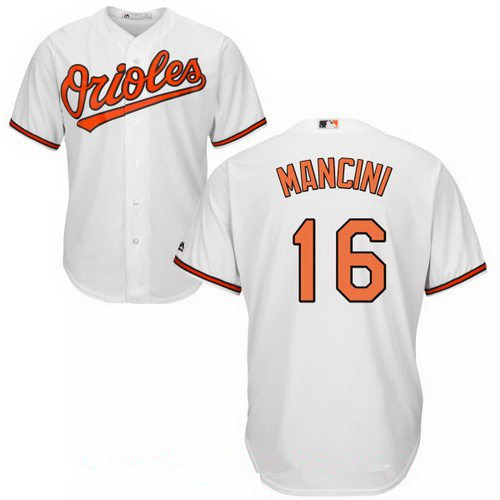 Men's Baltimore Orioles #16 Trey Mancini White Home Stitched MLB Majestic Cool Base Jersey