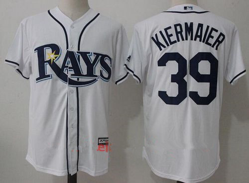 2a82c195b ... promo code mens tampa bay rays 39 kevin kiermaier white home stitched  mlb majestic cool base