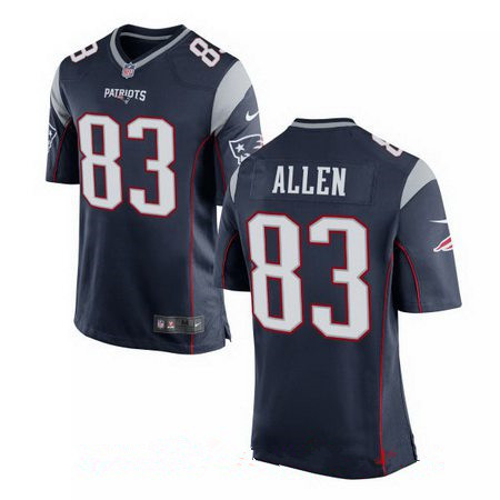 Men's New England Patriots #83 Dwayne Allen Navy Blue Team Color Stitched NFL Nike Elite Jersey