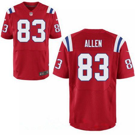 Men's New England Patriots #83 Dwayne Allen Red Alternate Stitched NFL Nike Elite Jersey