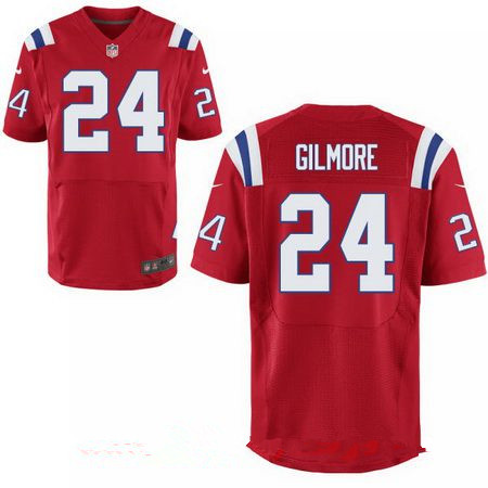 Men's New England Patriots #24 Stephon Gilmore Red Alternate Stitched NFL Nike Elite Jersey
