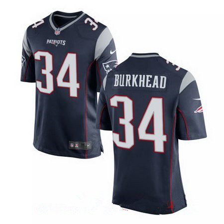 Men's New England Patriots #34 Rex Burkhead Navy Blue Team Color Stitched NFL Nike Elite Jersey