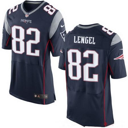 Men's New England Patriots #82 Matt Lengel Navy Blue Team Color Stitched NFL Nike Elite Jersey