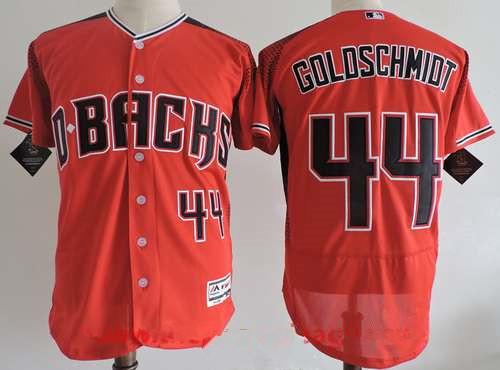 Men's Arizona Diamondbacks #44 Paul Goldschmidt 2017 Red Stitched MLB Majestic Flex Base Jersey