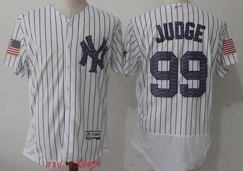 1fdb4178 ... Mens New York Yankees 99 Aaron Judge White 2017 Independence Stars  Stripes Stitched MLB Majestic Flex ...