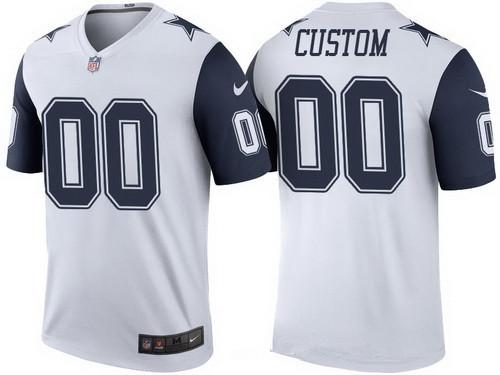 Men s Dallas Cowboys White Custom Color Rush Legend NFL Nike Limited ... aa3376695