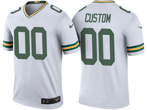 db58db7c811 Men's Green Bay Packers White Custom Color Rush Legend NFL Nike Limited  Jersey