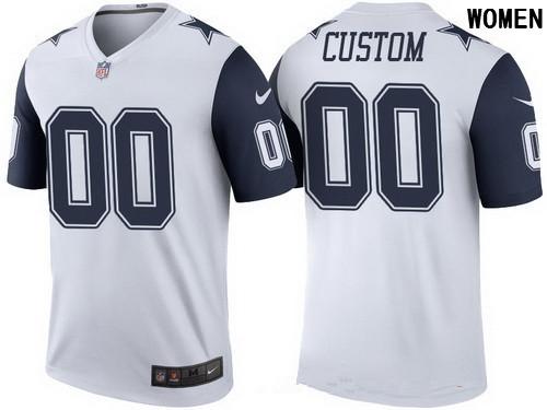 Women s Dallas Cowboys White Custom Color Rush Legend NFL Nike Limited  Jersey e721fac41