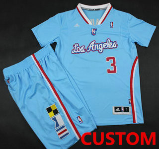 Custom Los Angeles Clippers Blue Revolution 30 Swingman NBA Jerseys Short Suits 2013 New Style