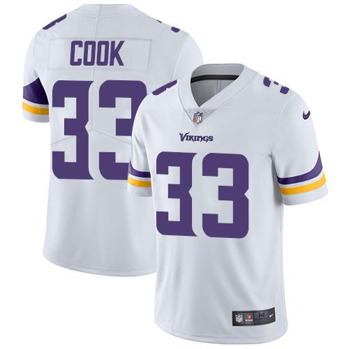 ea625114 Nike Minnesota Vikings #33 Dalvin Cook White Men's Stitched NFL Vapor  Untouchable Limited Jersey