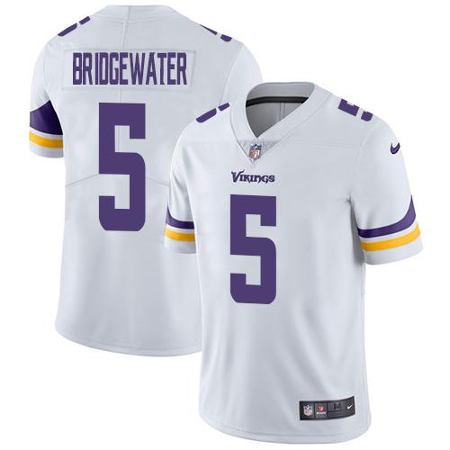 ID93866 Nike Minnesota Vikings #5 Teddy Bridgewater White Men\'s Stitched NFL Vapor Untouchable Limited Jersey