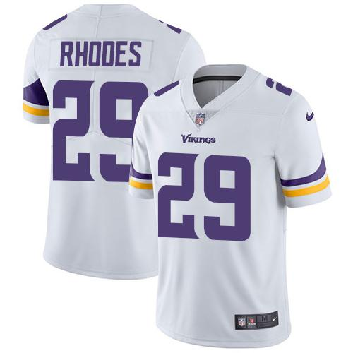 2b5521397 Nike Minnesota Vikings  29 Xavier Rhodes White Men s Stitched NFL Vapor  Untouchable Limited Jersey
