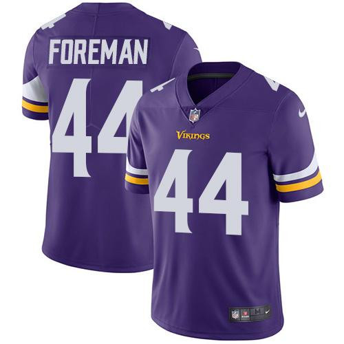 ID93874 Nike Minnesota Vikings #44 Chuck Foreman Purple Team Color Men\'s Stitched NFL Vapor Untouchable Limited Jersey