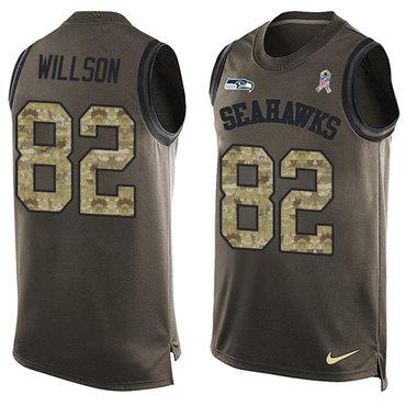2134b43126cd7 Nike Seattle Seahawks  82 Luke Willson Green Men s Stitched NFL Limited  Salute To Service Tank
