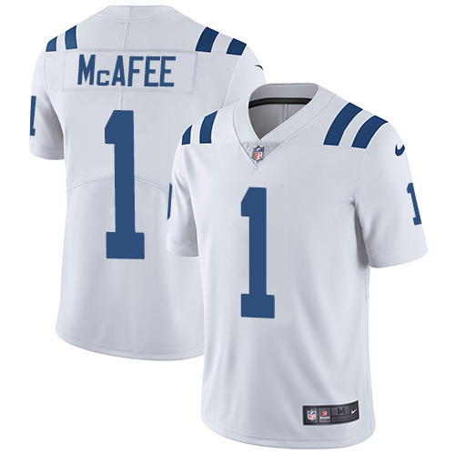 ... switzerland indianapolis colts 1 pat mcafee white mens stitched nfl  vapor untouchable limited jersey mens indianapolis e749a13db