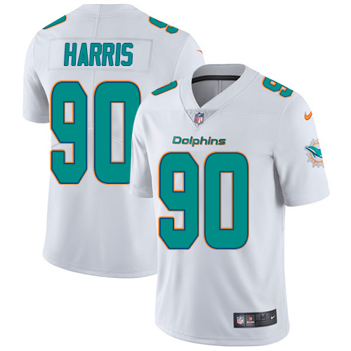 2ee0492db2b Nike Miami Dolphins  90 Charles Harris White Men s Stitched NFL Vapor  Untouchable Limited Jersey
