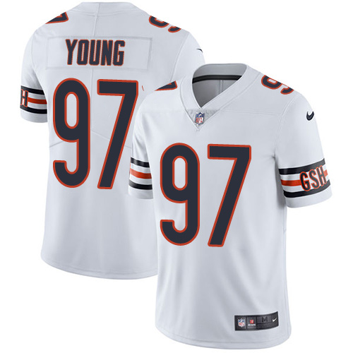 ID93101 Nike Chicago Bears #97 Willie Young White Men\'s Stitched NFL Vapor Untouchable Limited Jersey
