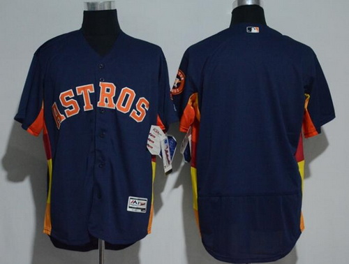 Men's Houston Astros Navy Blue Stitched MLB Majestic Flex Base Jersey