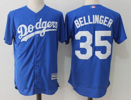 Men's Los Angeles Dodgers #35 Cody Bellinger Royal Blue Stitched MLB Majestic Cool Base Jersey
