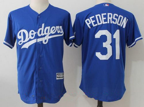 Men's Los Angeles Dodgers #31 Joc Pederson Royal Blue Stitched MLB Majestic Cool Base Jersey