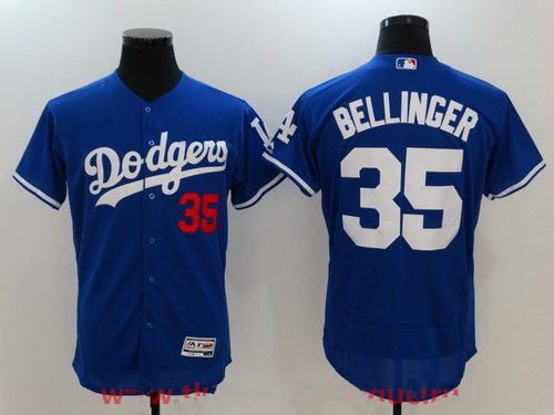 Men's Los Angeles Dodgers #35 Cody Bellinger Royal Blue Stitched MLB Majestic Flex Base Jersey