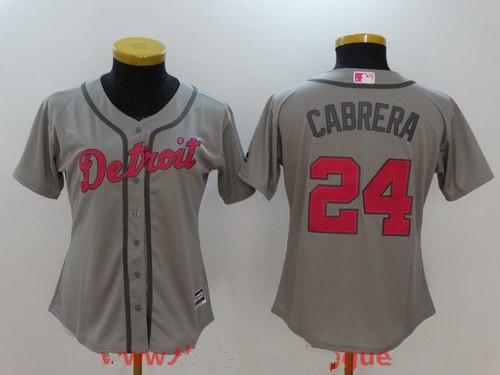0493e42a03b ... top quality detroit tigers 24 miguel cabrera gray with pink mothers day  stitched mlb majestic flex