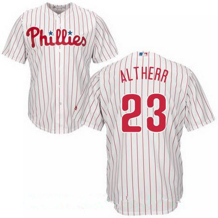 Youth Philadelphia Phillies #23 Aaron Altherr White Home Stitched MLB Majestic Cool Base Jersey