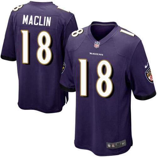 4f1b63fbf5d0 Nike Baltimore Ravens  18 Jeremy Maclin Purple Men s Stitched NFL Limited  Jersey
