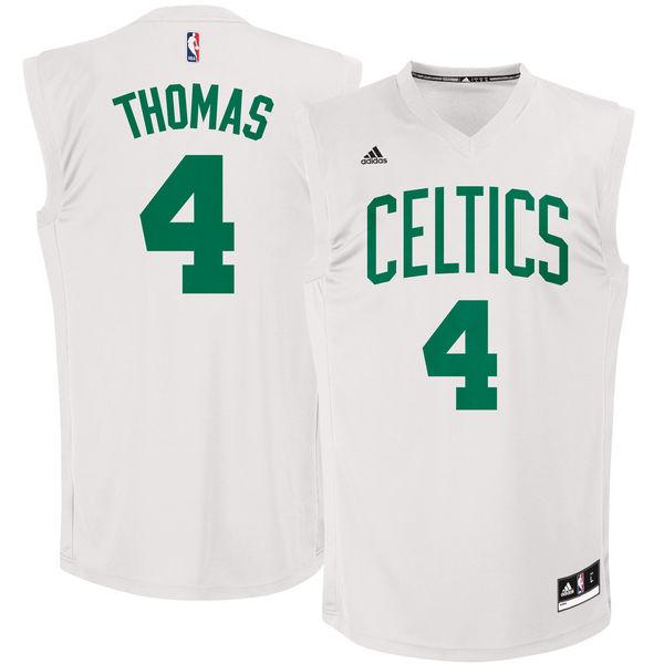 Boston Celtics #4 Isaiah Thomas White Chase Fashion Replica Jersey