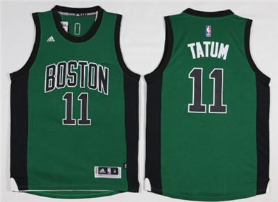 Boston Celtics #11 Jayson Tatum Green Swingman Jersey