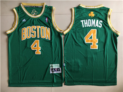 Boston Celtics #4 Isaiah Thomas Green St. Patrick's Day Swingman Jersey