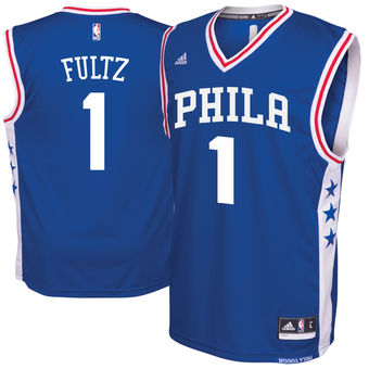 Men's Philadelphia 76ers #1 Markelle Fultz adidas Royal 2017 NBA Draft Pick Replica Jersey
