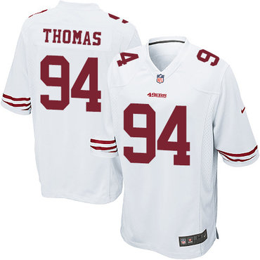 Youth Nike 49ers #94 Solomon Thomas White Stitched NFL Elite Jersey