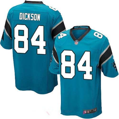 Men's Carolina Panthers #84 Ed Dickson Game Light Blue Alternate Stitched NFL Nike Game Jersey