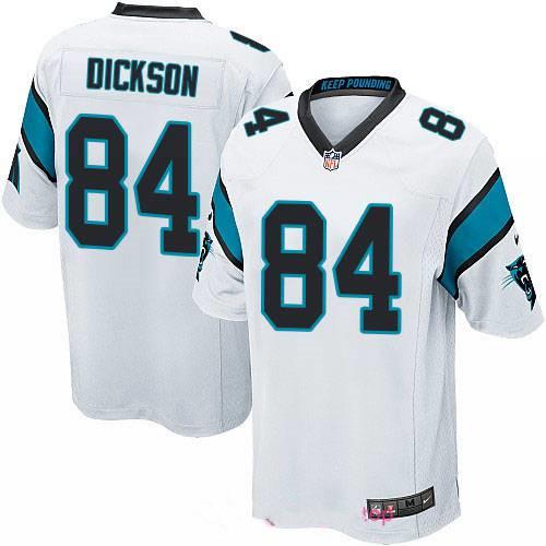 Men's Carolina Panthers #84 Ed Dickson White Road Stitched NFL Nike Game Jersey