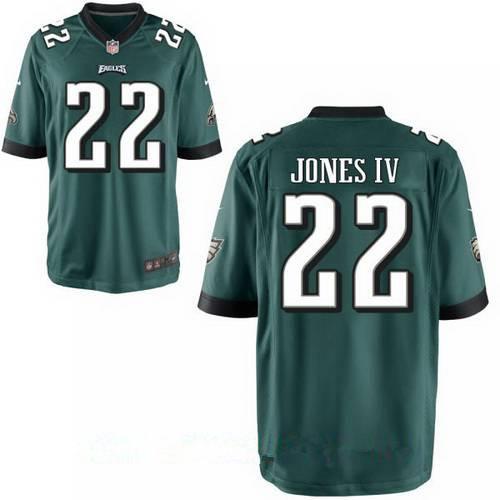 Men's Philadelphia Eagles #22 Sidney Jones IV Midnight Green Team Color Stitched NFL Nike Game Jersey