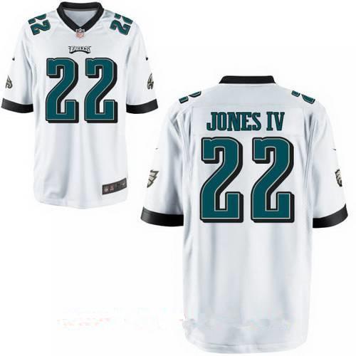 Men's Philadelphia Eagles #22 Sidney Jones IV White Road Stitched NFL Nike Game Jersey