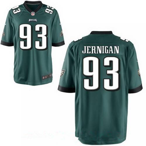 Men's Philadelphia Eagles #93 Timmy Jernigan Midnight Green Team Color Stitched NFL Nike Game Jersey